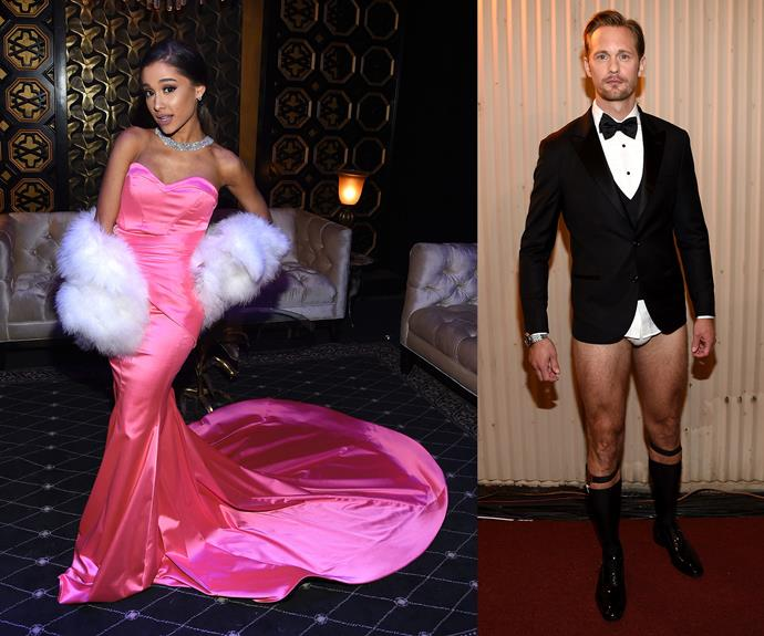 From the glamourous Ariana Grande to the sexy and pant-less Alexander Skarsgård.