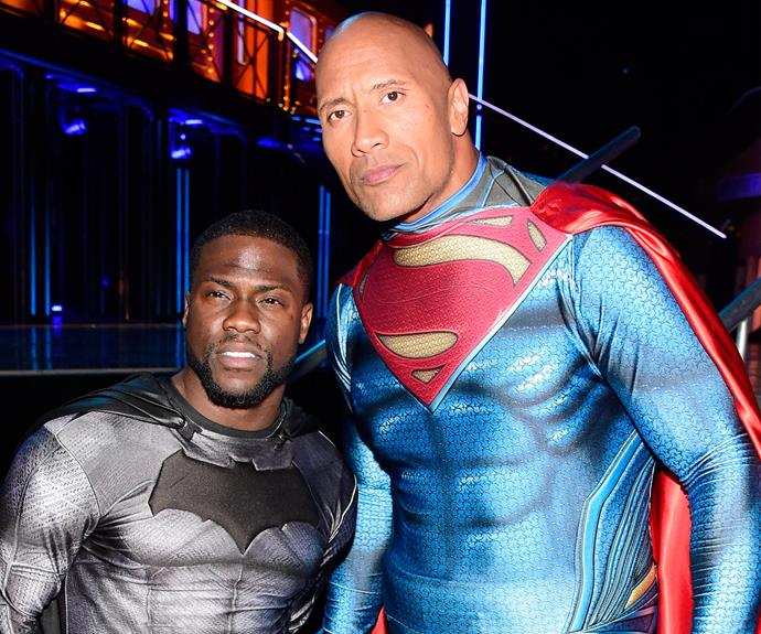 "The awards were hosted by stars of *Central Intelligence*, Dwayne ""the Rock"" Johnson and Kevin Hart."