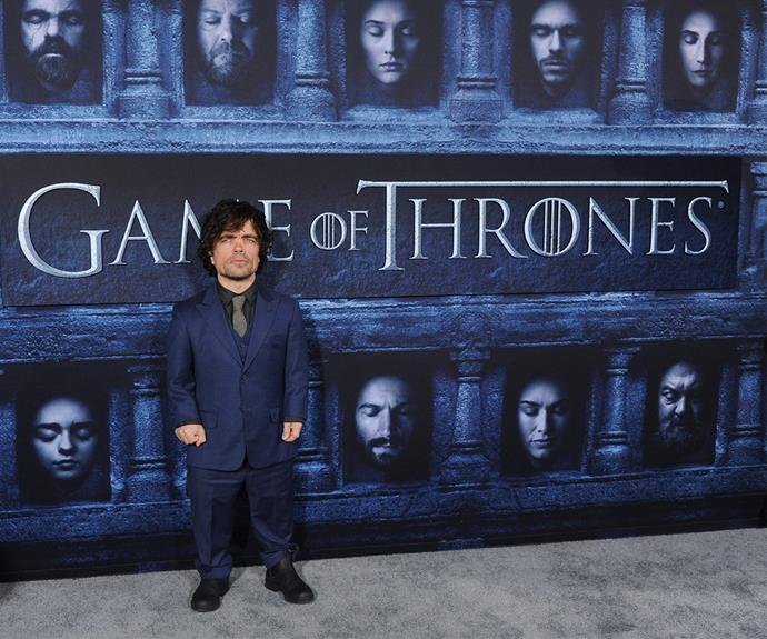 *Game of Thrones* star Peter Dinklage walked the red carpet at the HBO VIP screening of season six in LA on Sunday.
