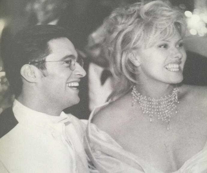 A blast from the past! Hugh and Deb pictured on their wedding day in 1996.