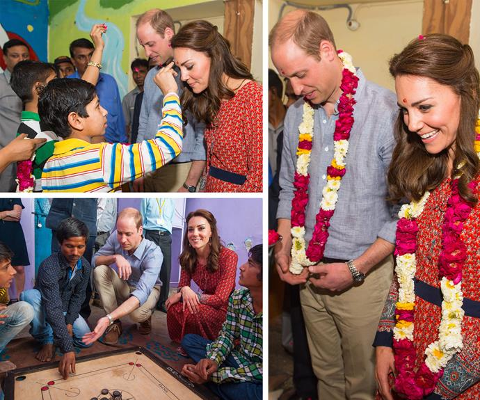 The Duke and Duchess visited a contact centre run by the charity Salaam Baalak, which provides emergency help and long term support to homeless children at New Delhi railway station. **Watch William and Kate chat to people at the shelter in the player below. Post continues after the video!**