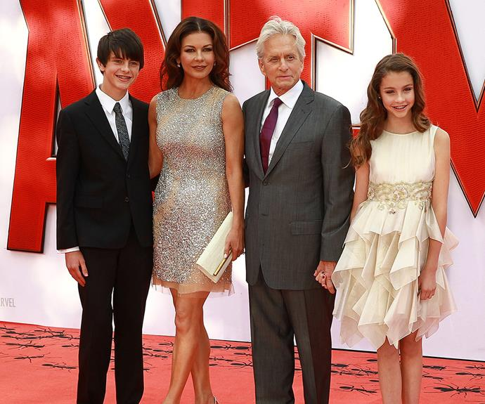 All grown up! The happy family pictured together at the *Ant Man* premiere last year.