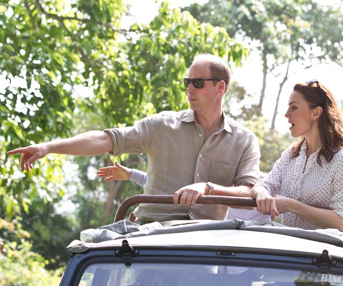 The duo enjoyed an open-air jeep ride deep into the Indian safari.