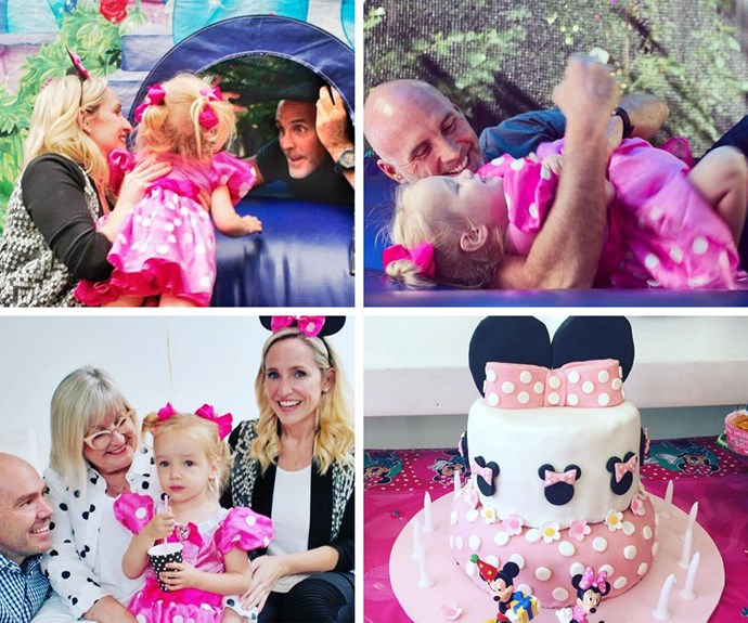 Fifi shared two touching photos of her darling daughter Trixie playing with her dad, on her third birthday.