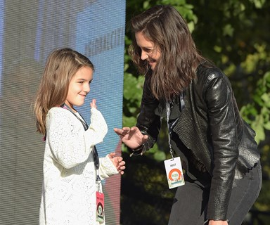 """Katie Holmes opens up about giving Suri a """"stable, innocent"""" childhood"""