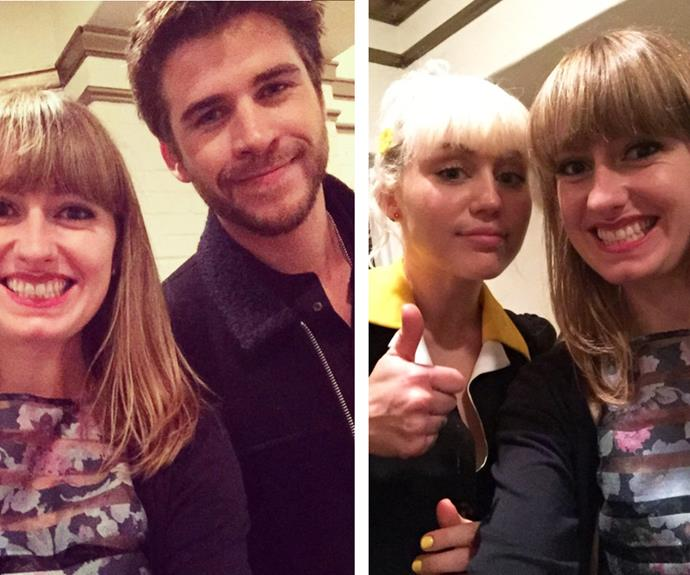 The young couple were spotted by one eagle-eyed fan, who managed to snap a photo with both Liam and Miley!