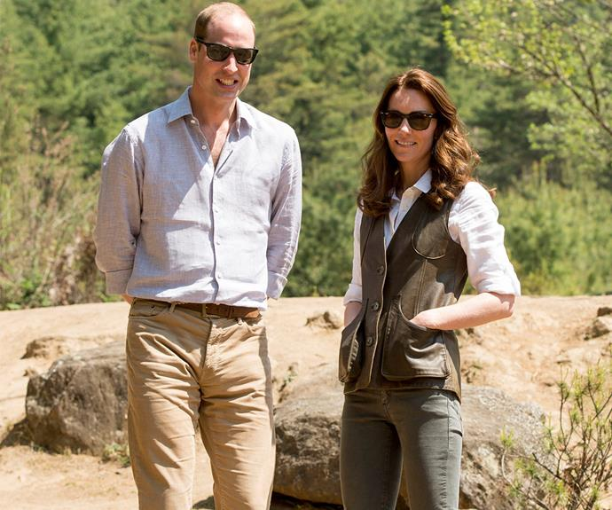 Earlier that day, the pair worked up a sweat as they enjoyed a three hour hike to a secluded monastery in Bhutan.