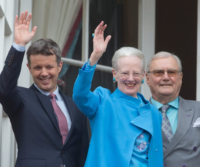 Queen Margrethe was a vision in sky blue.