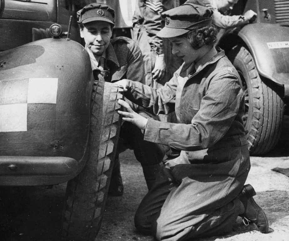 "Trading in her royal title for ""Second Subaltern Elizabeth Alexandra Mary Windsor"" the then-18-year-old trained as a mechanic and driver. Her Majesty performed quite well and is still the only female royal to have entered the army and is the only remaining head of state who served in WWII."