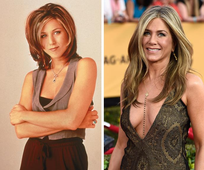 """From the """"Rachel"""" to her personal signature 'do... Jen Aniston is the master of GOOD hair!"""