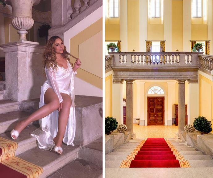 "Mariah Carey decided to ""slum it"" during a recent stay at Lake Como, by opting for an Airbnb property as opposed to a hotel. The 46-year-old superstar, dressed in a silky nightgown and furry stilettos, shared with fans her place of rest  Costing us regular folk a cool $12,250 per night, she penned on Instagram,""This gorgeous #LakeComo stay was a #SweetSweetFantasy, courtesy of @airbnb!"""