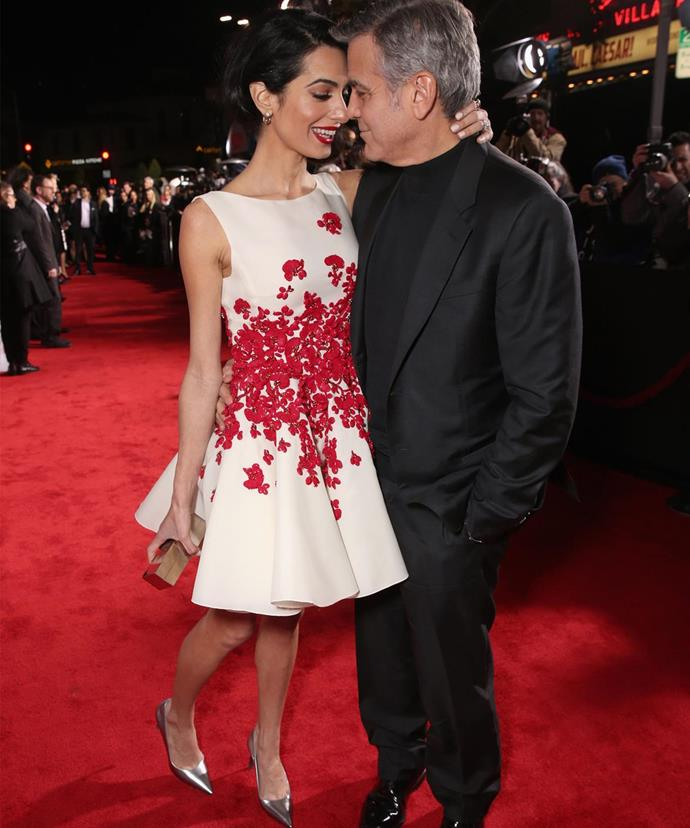 """Find out how the star awkwardly proposed to his now-wife by [clicking here!](http://www.womansday.com.au/celebrity/hollywood-stars/george-clooneys-not-so-hollywood-proposal-to-amal-14637