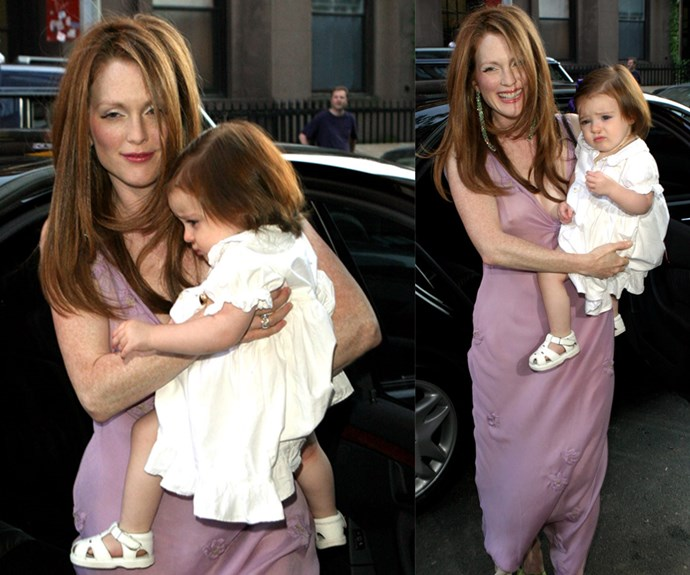 Actress Julianne Moore proves you don't need to wear white on your wedding day in this lilac Prada number. The stunning star wed hubby Bart Freundlich in this casual dress in 2003 and the pair haven't looked back since.