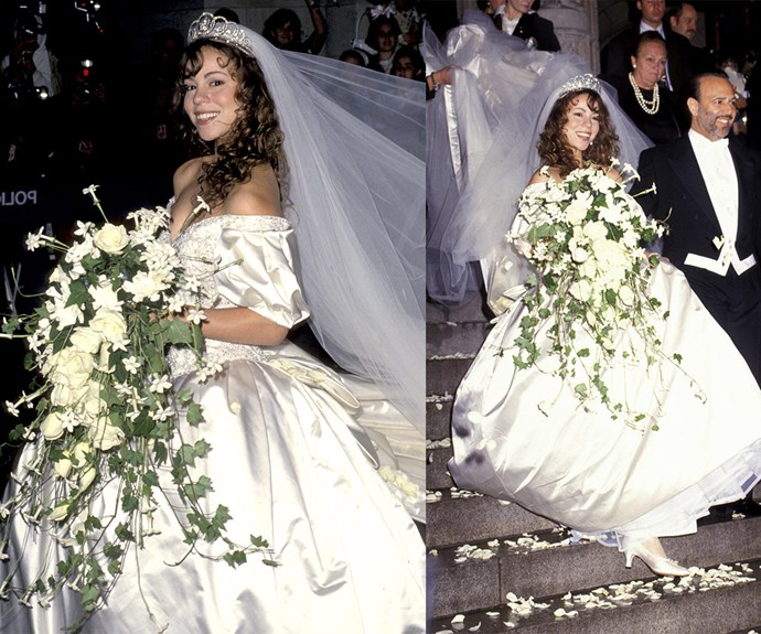 Mariah Carey was the epitome of a '90s bride when she wed Tommy Mottola in 1993. The couple split five years later.