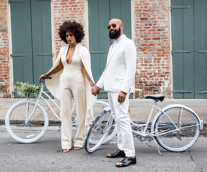 Solange has always been a trailblazer and it was no exception on her big day two years ago. The singer wed Alan Ferguson in a Stephane Rolland jumpsuit.