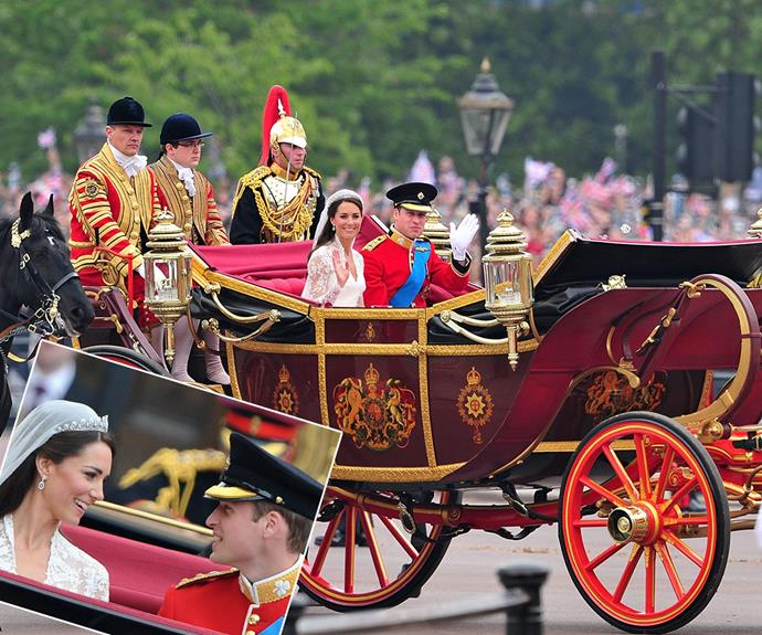 The perfect mode of transportation for a new Princess: Wills and Kate picked the Imperial State Landau.