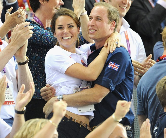One year after their spectacular wedding, the royal couple attended the London Olympics. It was a victory for everyone when Team Great Britain won their cycling event.