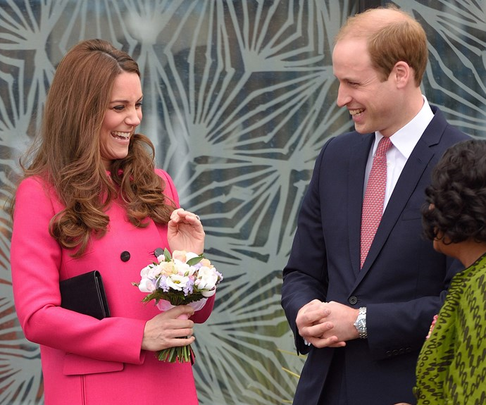 The pair were completely smitten during one of Catherine's final appearances before she gave birth to little Charlotte.