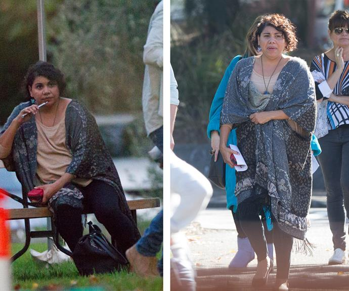 Actress Deborah Mailman, who will be reprising her role as Cherie Butterfield, was also seen on the set.