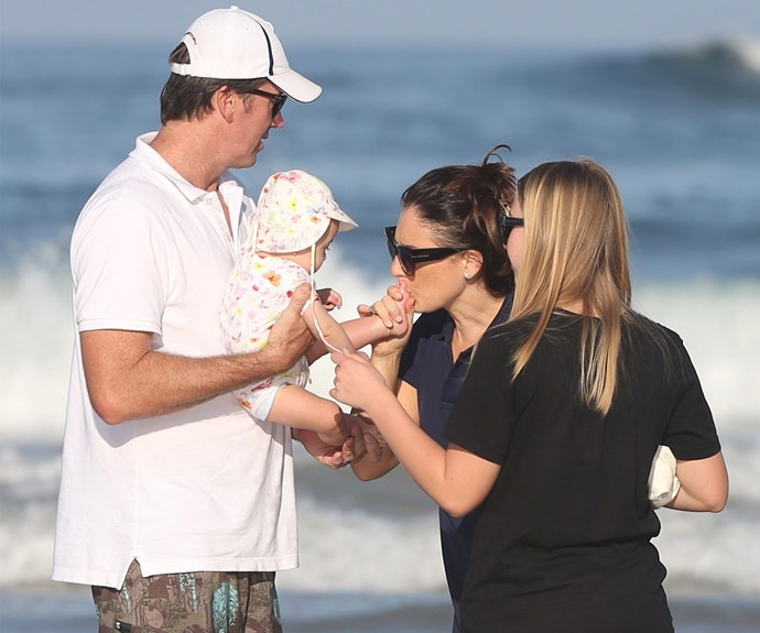 Madison is Glenn's third child. His two children to his late wife, Jane McGrath, who died of breast cancer in 2008, absolutely adore the tiny new addition to their family.