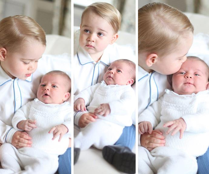 And cheeky George is completely smitten with his sweet sister.