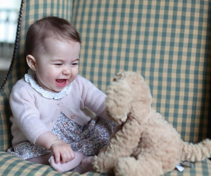 Darling Princess Charlotte is simply adorable as she rings in her very first year.