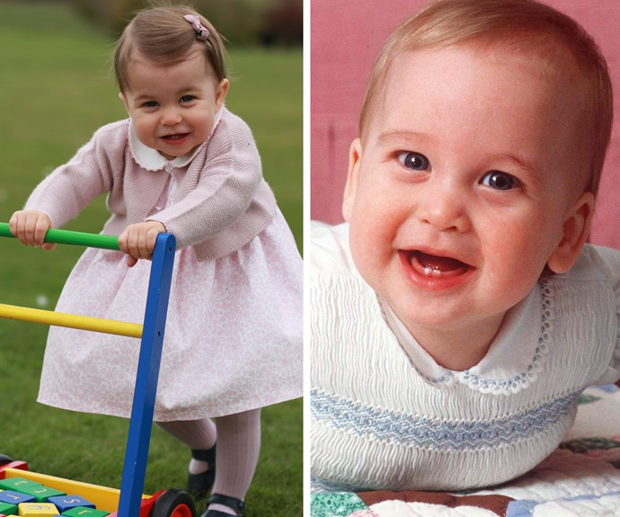 Clearly blue eyes run in the family... Charlotte also reminds us of her dad, Prince William, when he was a bub.
