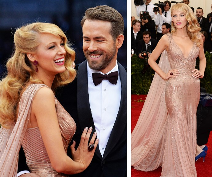 Blake Lively was an old Hollywood vision in Gucci at the 2014 gala.