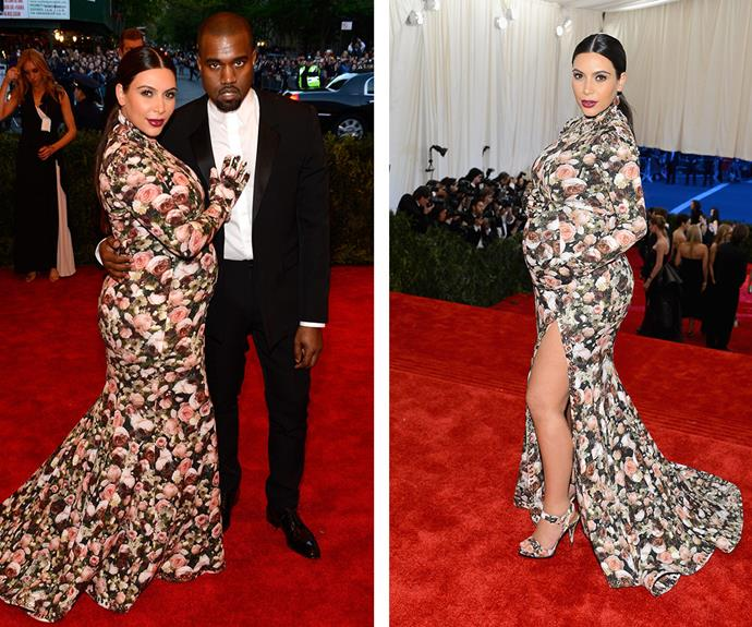 Riccardo Tisci's Givenchy dress for Kim Kardashian at the 2013 Met Gala was compared to a couch...