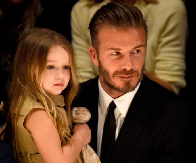 David pictured with his youngest and only daughter, Harper.