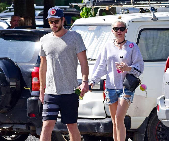 Miley has been in Byron Bay with her beau and his family.