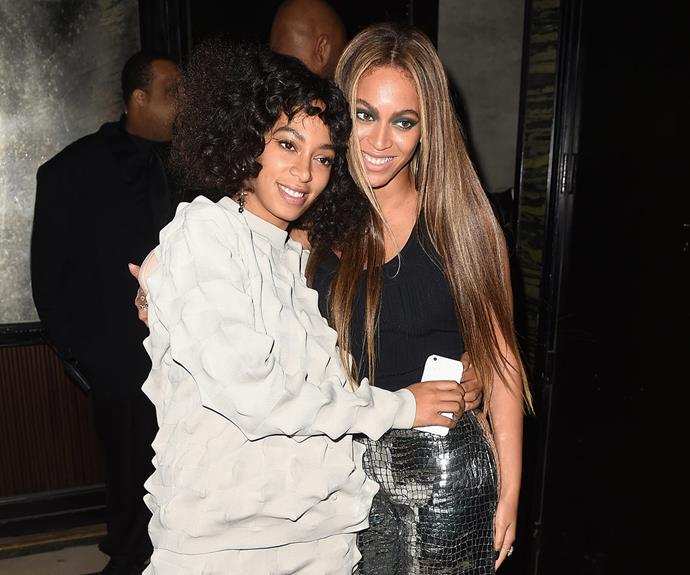 Sister act! Beyonce flew solo to the Met Gala as hubby, Jay Z was nowhere to be seen, but the *Single Ladies* hitmaker couldn't have cared less as she partied into the night with sister Solange.