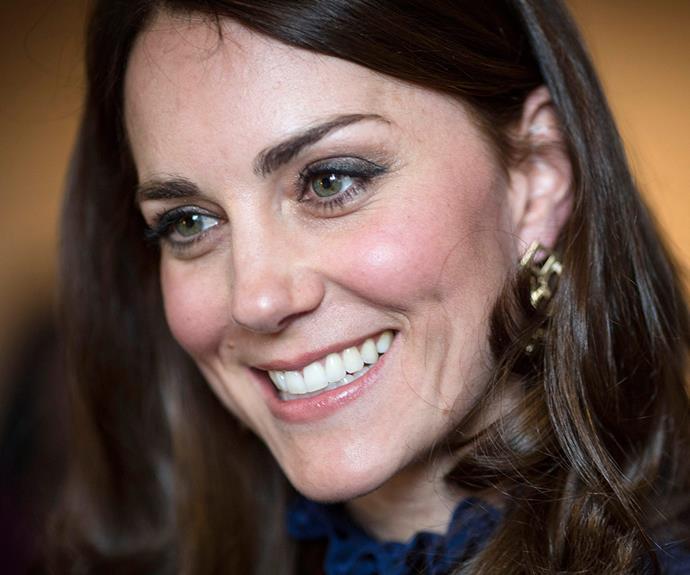 A close look at the Duchess' signature makeup look.
