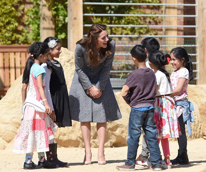 It's a princess party! The little ones were enamoured with Catherine.