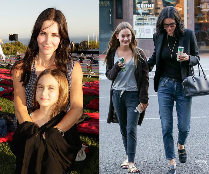 Courteney Cox and her daughter Coco Arquette, 11, enjoyed a mother-daughter stroll in LA on May 4 (right). The star's only daughter with ex David Arquette (pictured on the left in 2013) has grown up so much in recent years!