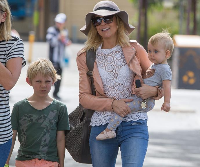Earlier in the year, Carrie and her son Oliver and daughter Evie enjoyed some quality time together.