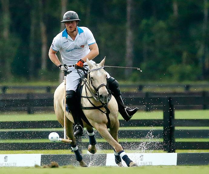 Swoon! Prince Harry stole the hearts of many an onlooker when he competed in the Sentebale Royal Salute Polo Cup 2016 at the Valiente Polo Farm in Wellington, Florida recently.