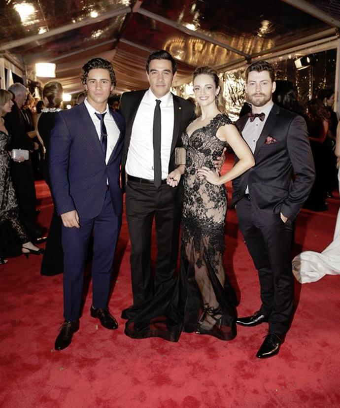 James walked the Logies red carpet with his new *Home and Away* co-stars.