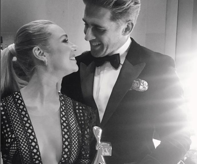 """My girl Jess won. #jessicamarais #comealongwayfromNIDA #logieawards,"" Jess' former *Packed to the Rafters* co-star Hugh Sheridan proudly penned alongside this shot."