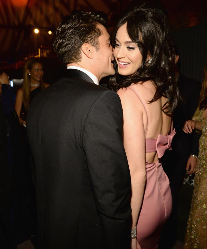 Katy and Orlando were seen getting close earlier this year.