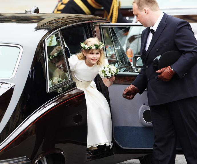Lady Louise was one of the sweet flower girls at Will and Kate's wedding
