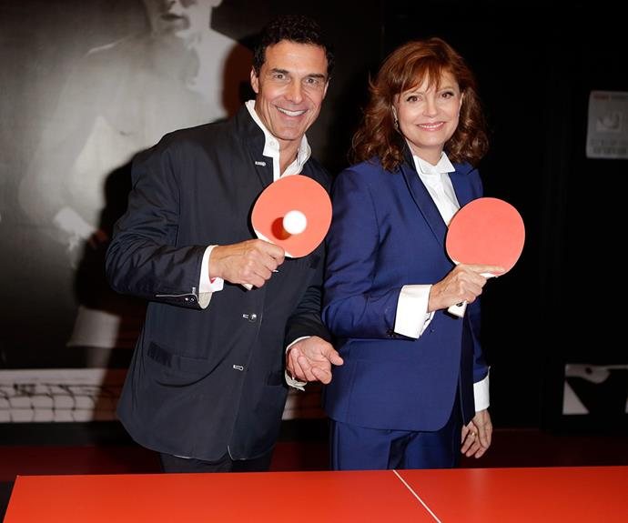 """Ping Pong with a difference! In 2009, the ever charming Susan Sarandon opened her own restaurant called  SPiN in Milwaukee, New York and Toronto. The actress sells it it as a """"ping-pong social club"""" and the concept is thriving, with a newly-launched SPiN recently cropping up in San Fran."""