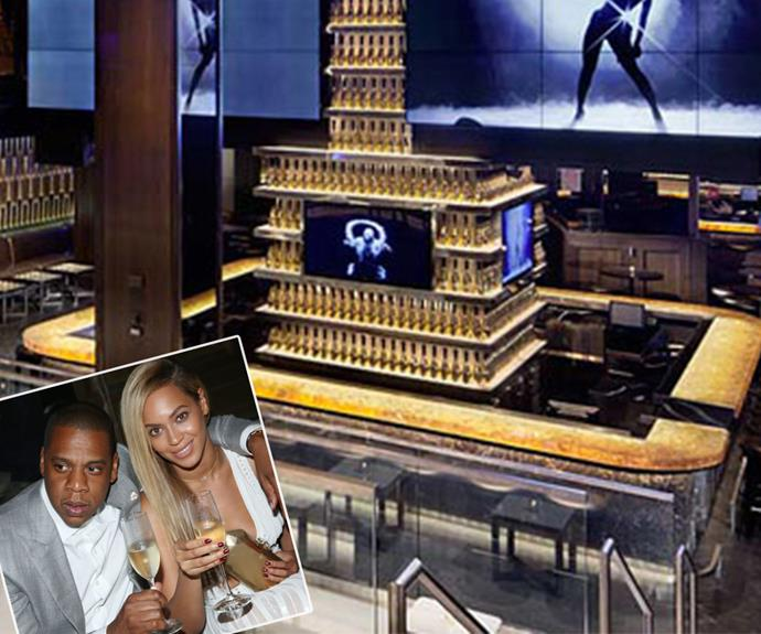 """Queen Bey and Jay Z's 40/40 Club is one of the most exclusive hangouts in New York. Part sports lounge, part fine dining, the swanky hang-out has the rapper's touch all over it. """"I love sports and wanted to create an environment that is conducive to match my lifestyle, while watching the games at the same time,"""" Jay Z has explained."""