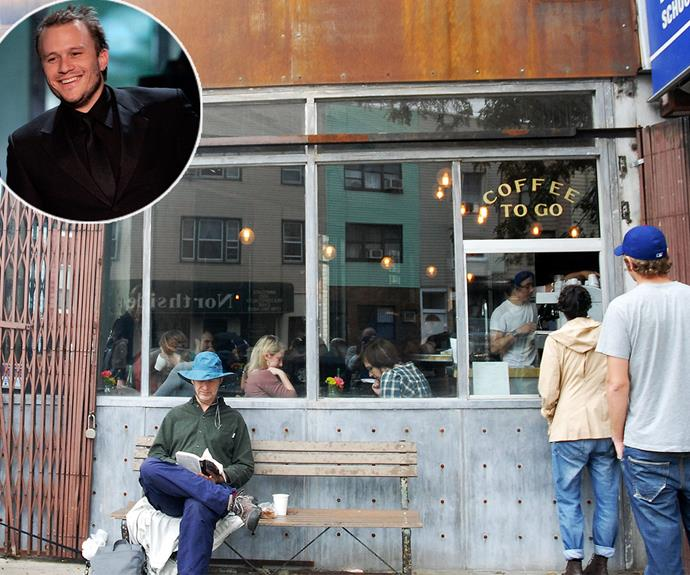 Truly moving: Shortly before Heath Ledge's death in 2008, he was planning to open a bar with a group of friends in New York. Following his passing, his mates ensured his dreams could live on and they opened Five Leaves as a tribute to the star.