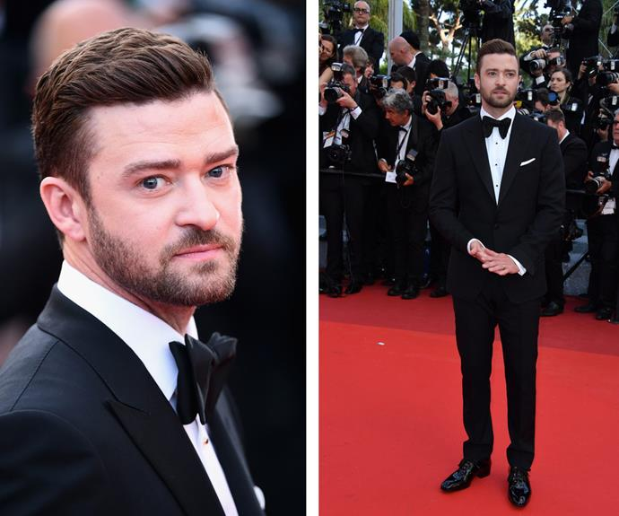 Dapper chap Justin Timberlake was in his classic suit and tie combo.
