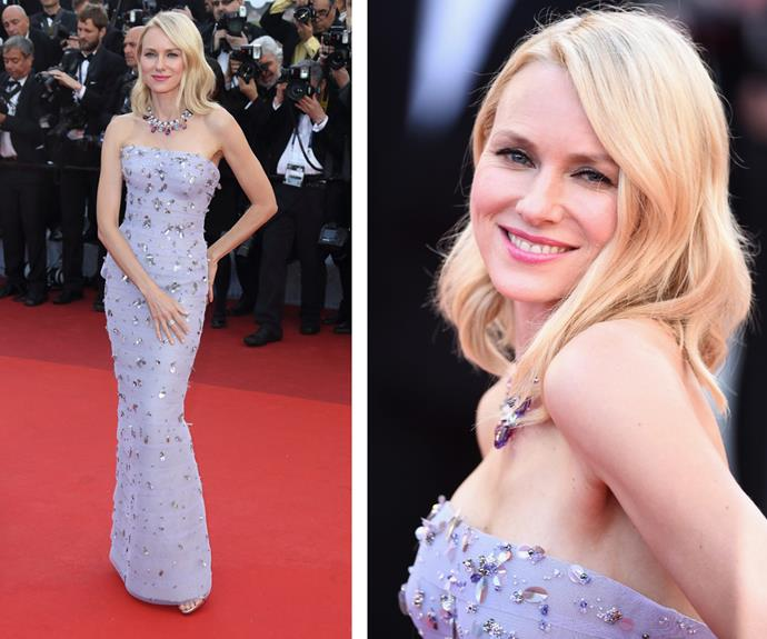 Australia's very own Naomi Watts was a vision in an embellished lilac gown.