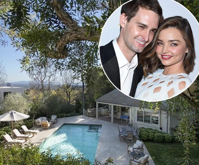 Roomies! Miranda Kerr and Snapchat billionaire Evan Spiegel have taken their relationship to the next step by splashing out a cool $17 million on this stunning home in Brentwood, California.