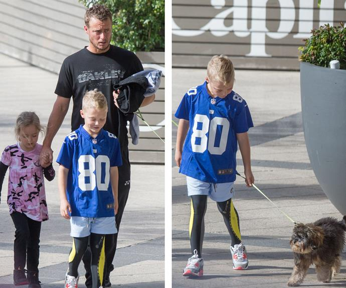 Meanwhile Lleyton, Cruz and Ava leave the ladies behind as they took their pooch Bux for a stroll.