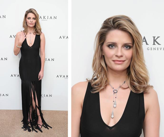 Fresh from her stint on US *Dancing With The Stars*, Mischa Barton looked drop dead gorgeous in a fringed black slip.