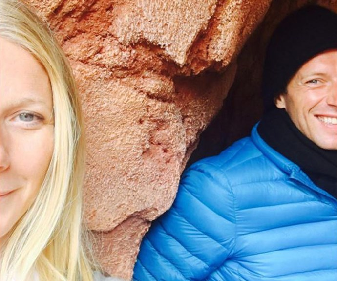 Gwyneth and Chris look so happy and relaxed together.